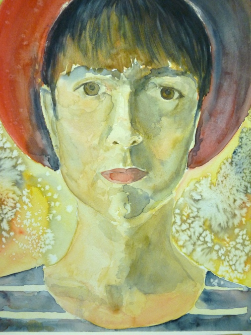 Self-portrait in Red Beret