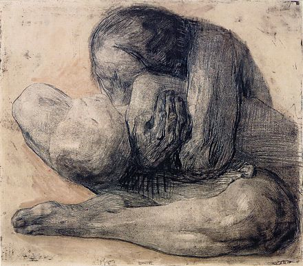 """Kathe Kollwitz, """"Mother and Dead Child,"""" Etching, 1903"""