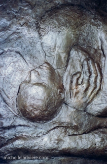 "Detail from ""Mother and Child"" with bronze patina."