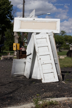 Salvaged door installation