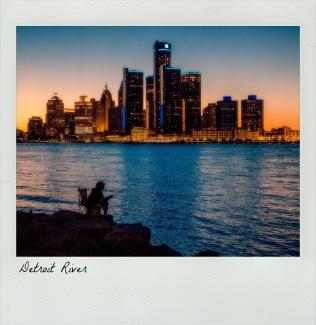 Detroit River Fisherman